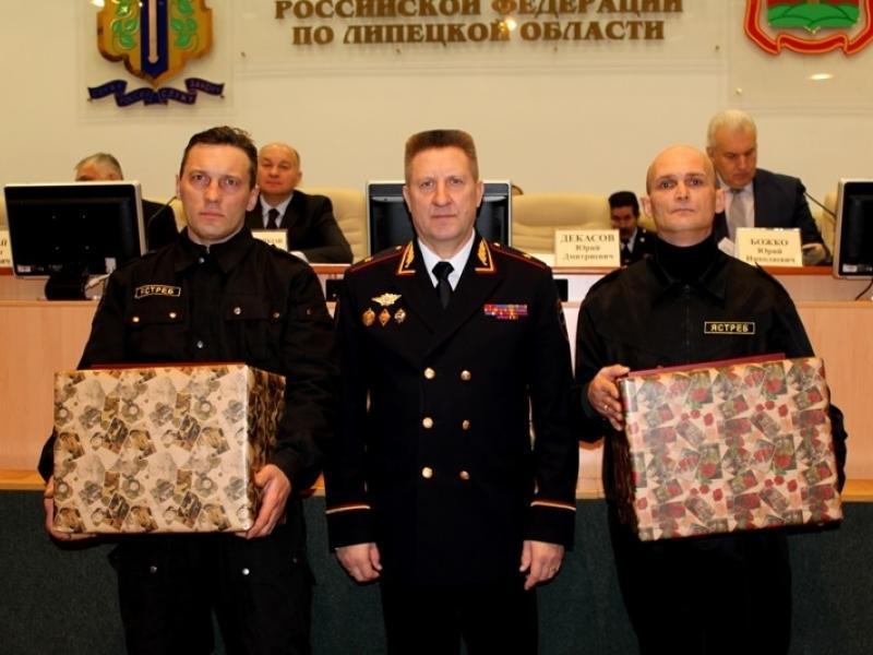 Награда от начальника УМВД Липецкой области